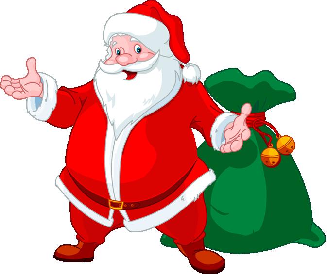 clipart santa healthy