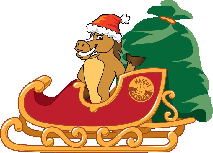 Holiday clip art downloads. Clipart santa horse