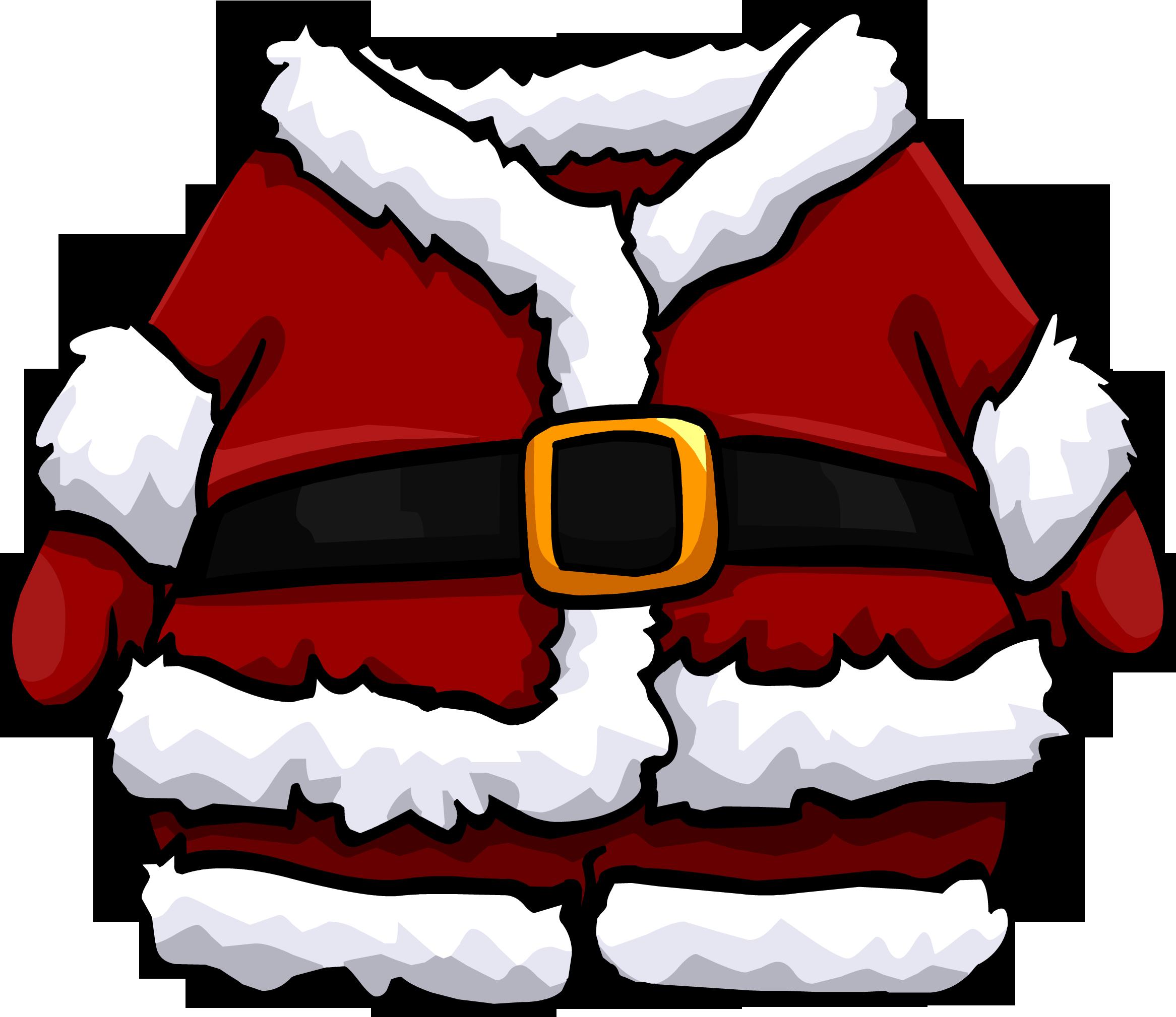 santa clipart back