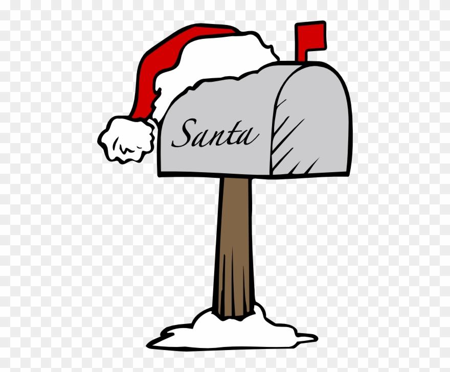 Mailbox clipart santa. Santas letter to png