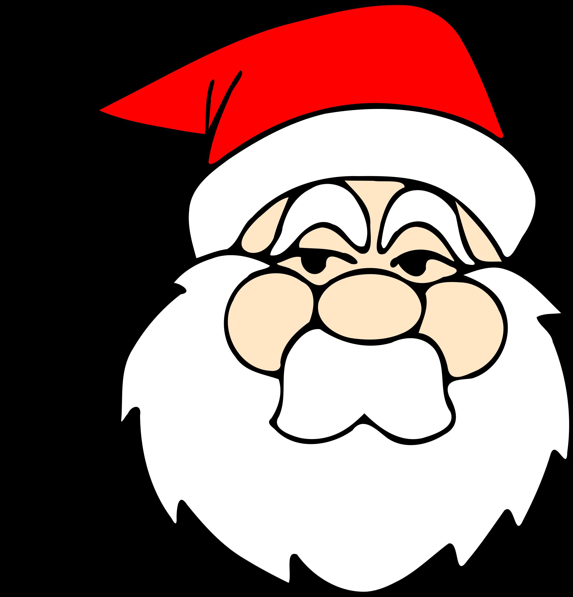 Santa big image png. Mask clipart line art