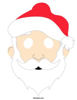Pin by muse printables. Santa clipart mask
