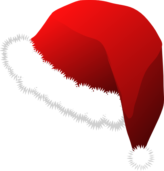 Santa clipart mask. Santas cap clip art