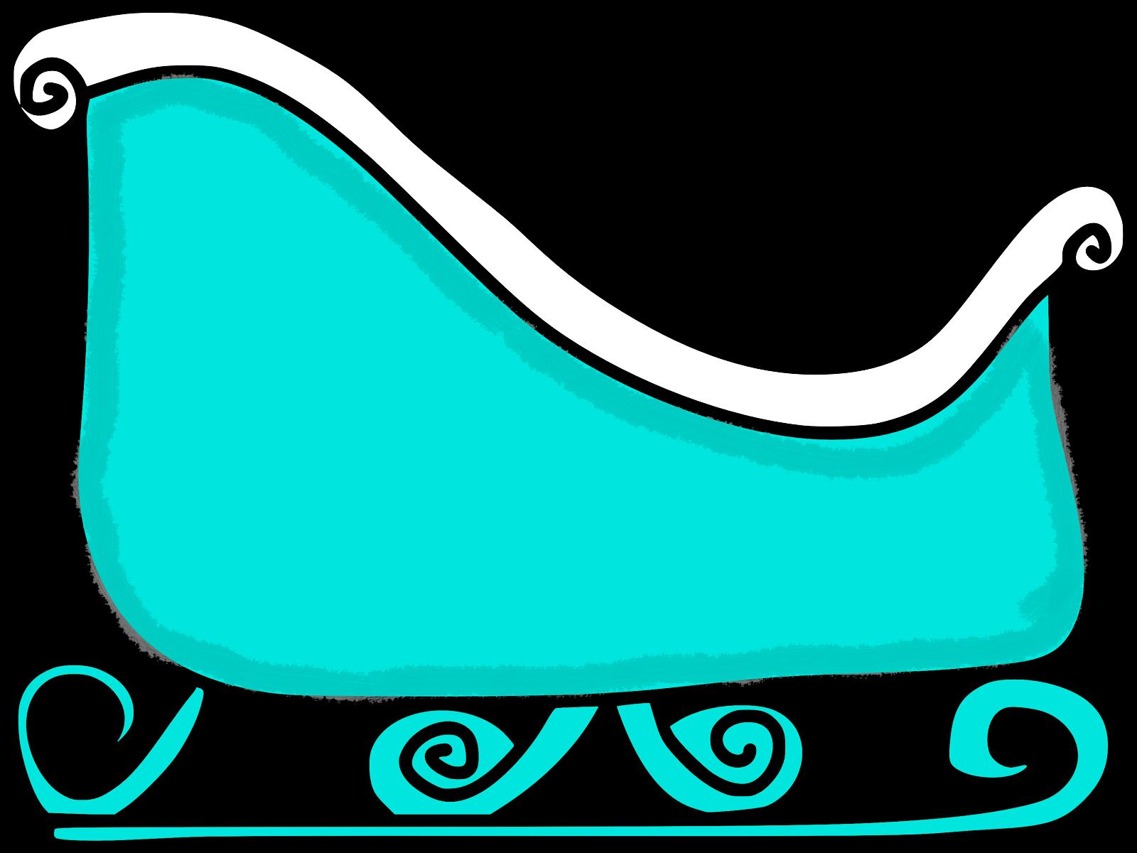 Mitten outline wikiclipart art. Sleigh clipart sled