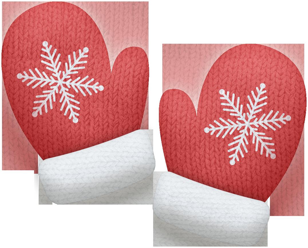 Kaagard snowman mittens red. Winter clipart mitten