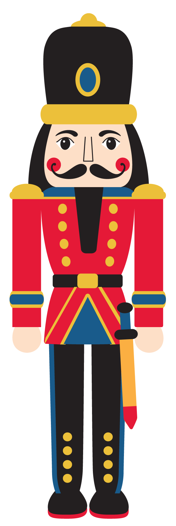 The community icon painting. Head clipart nutcracker