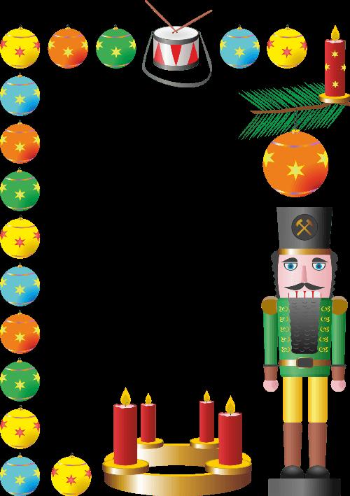 Christmas nutcracker free printable. Lunchbox clipart border