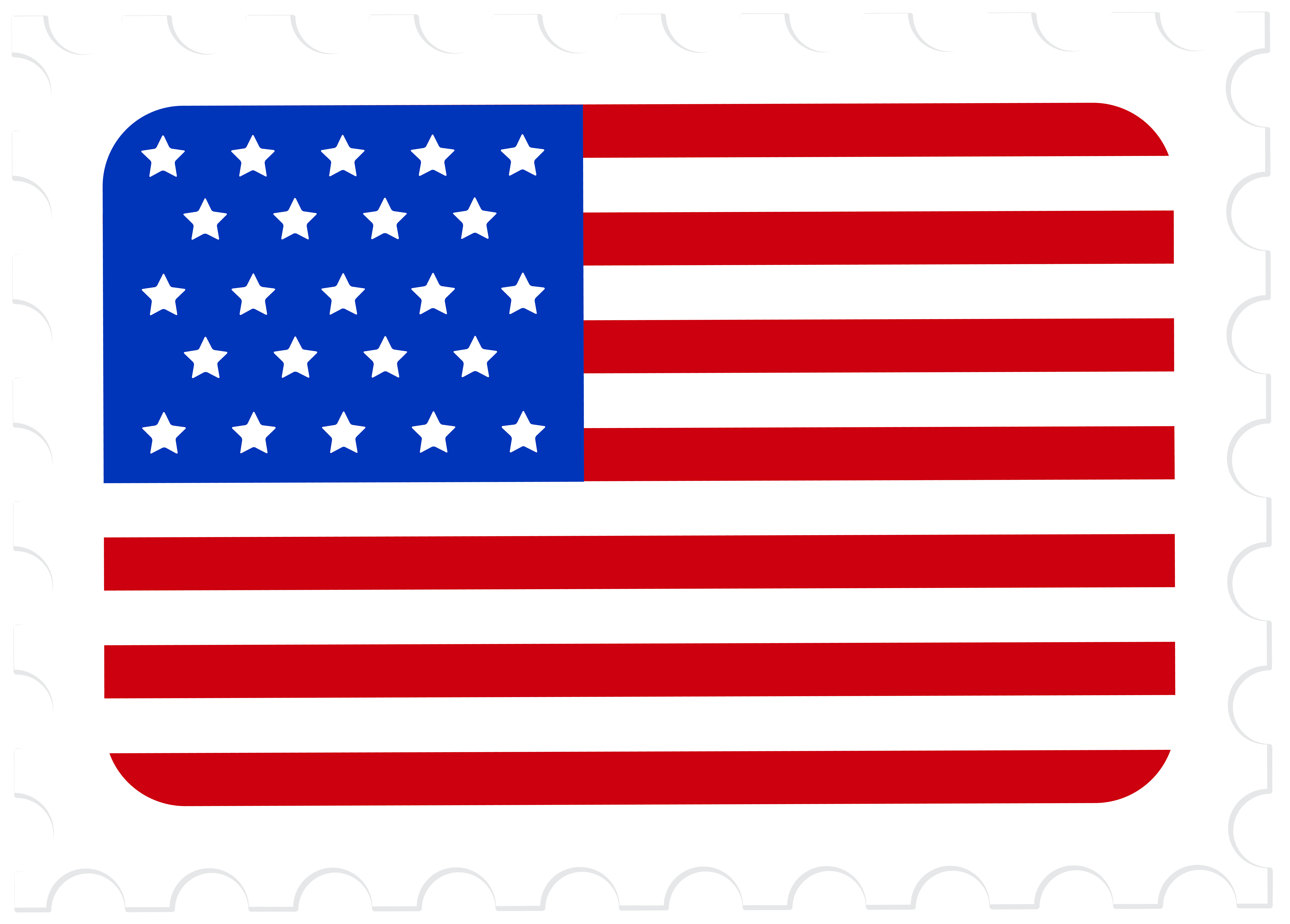 Usa flag postage png. Stamp clipart guarantee