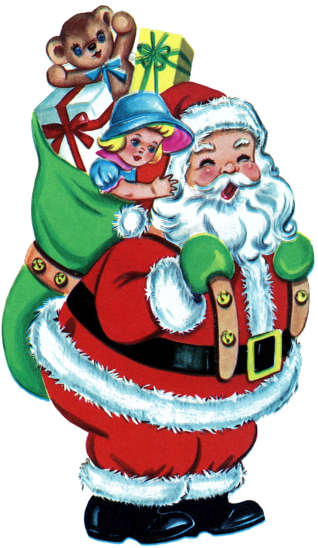 Clipart santa retro.  free vintage clip