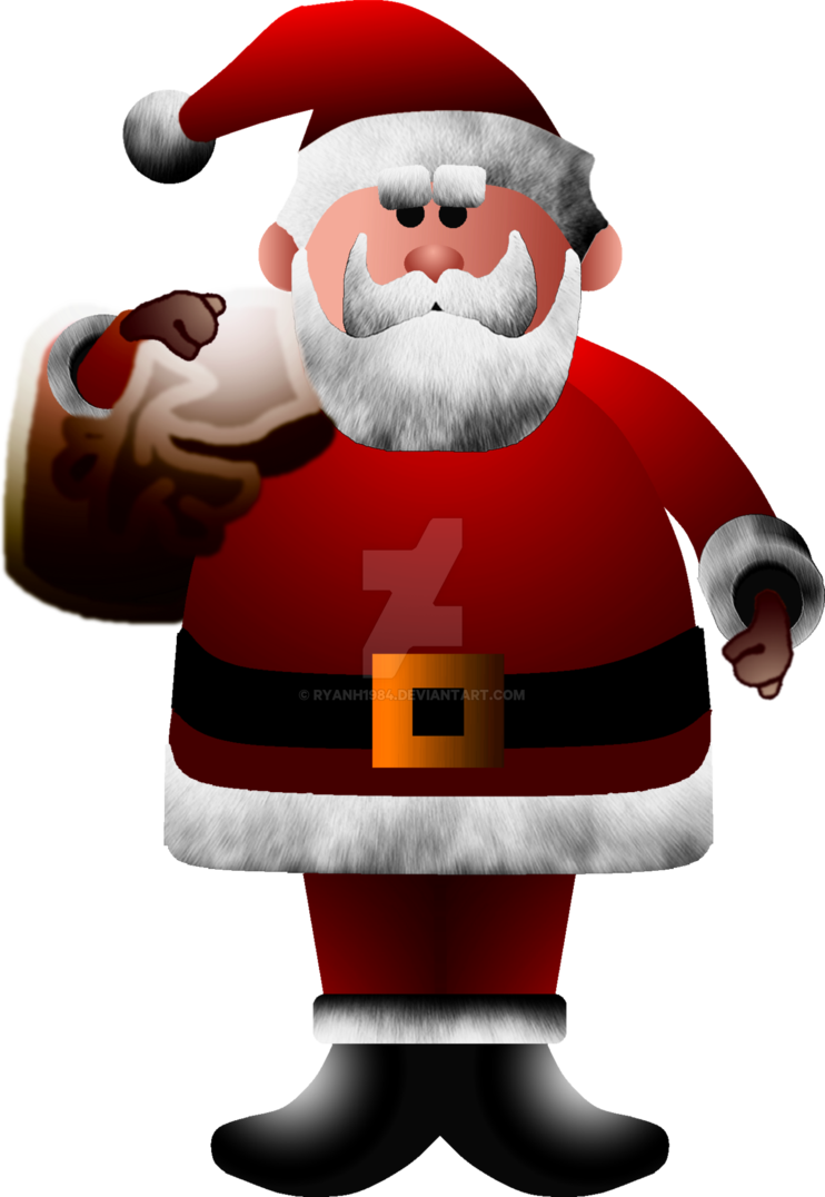 From the red nosed. Clipart santa rudolph