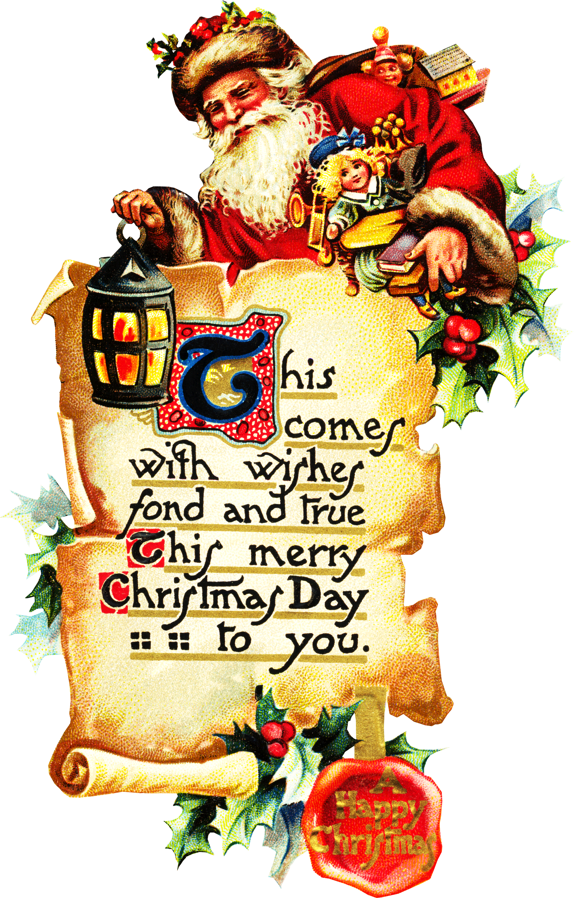 Graphics archives clipartplace santa. Scroll clipart christmas