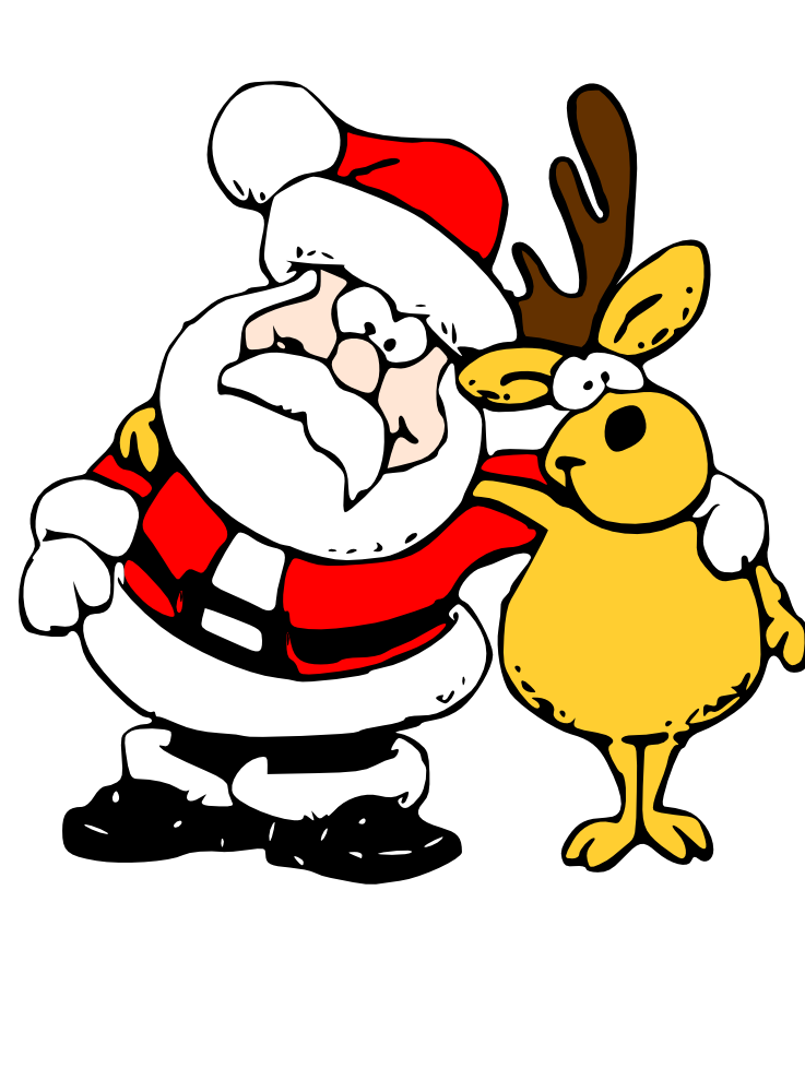 Poetry clipart cute. Funny santa ready to