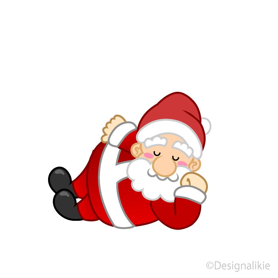 Santa clipart sleeping. Free picture illustoon