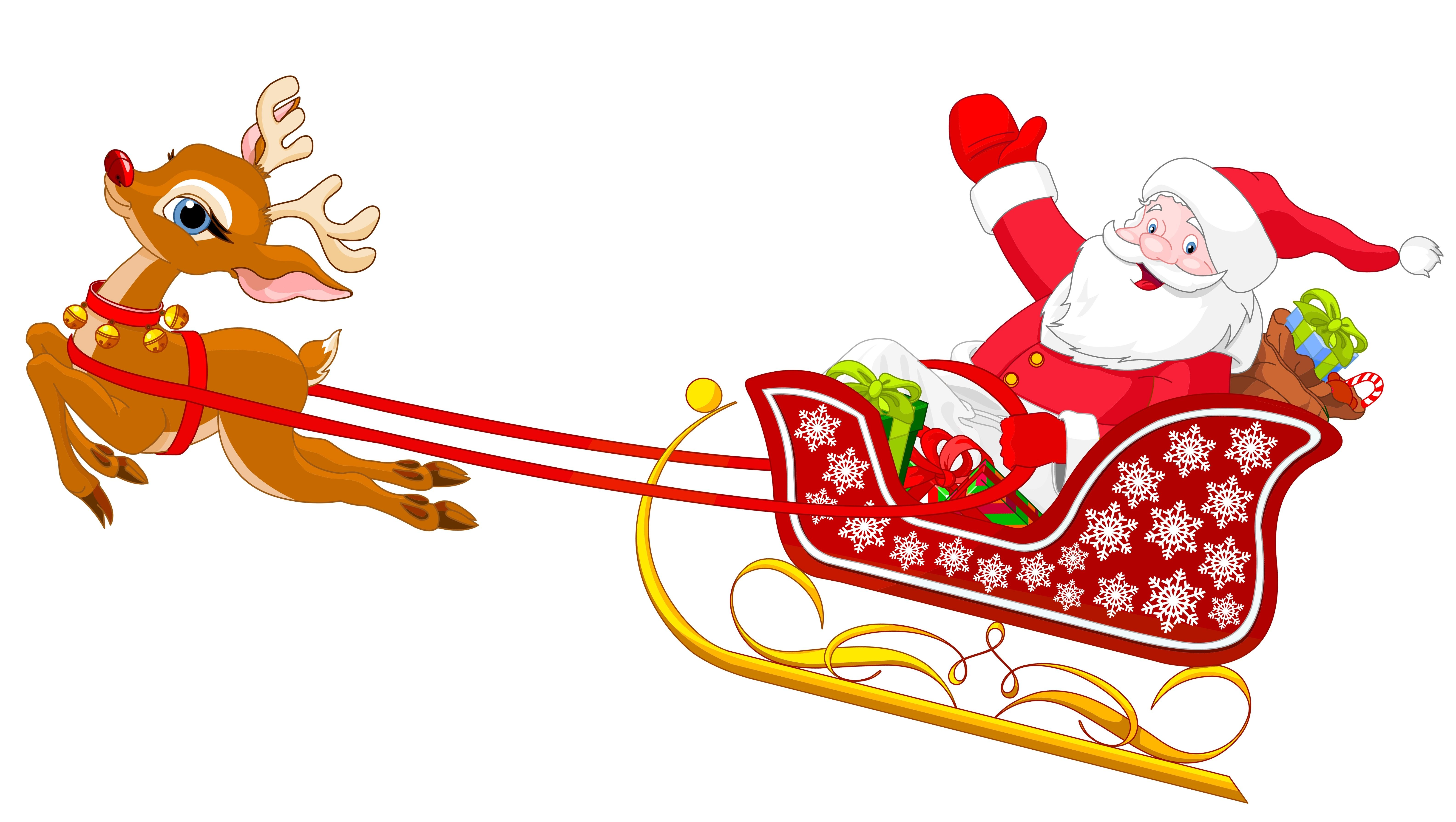 sleigh clipart easy