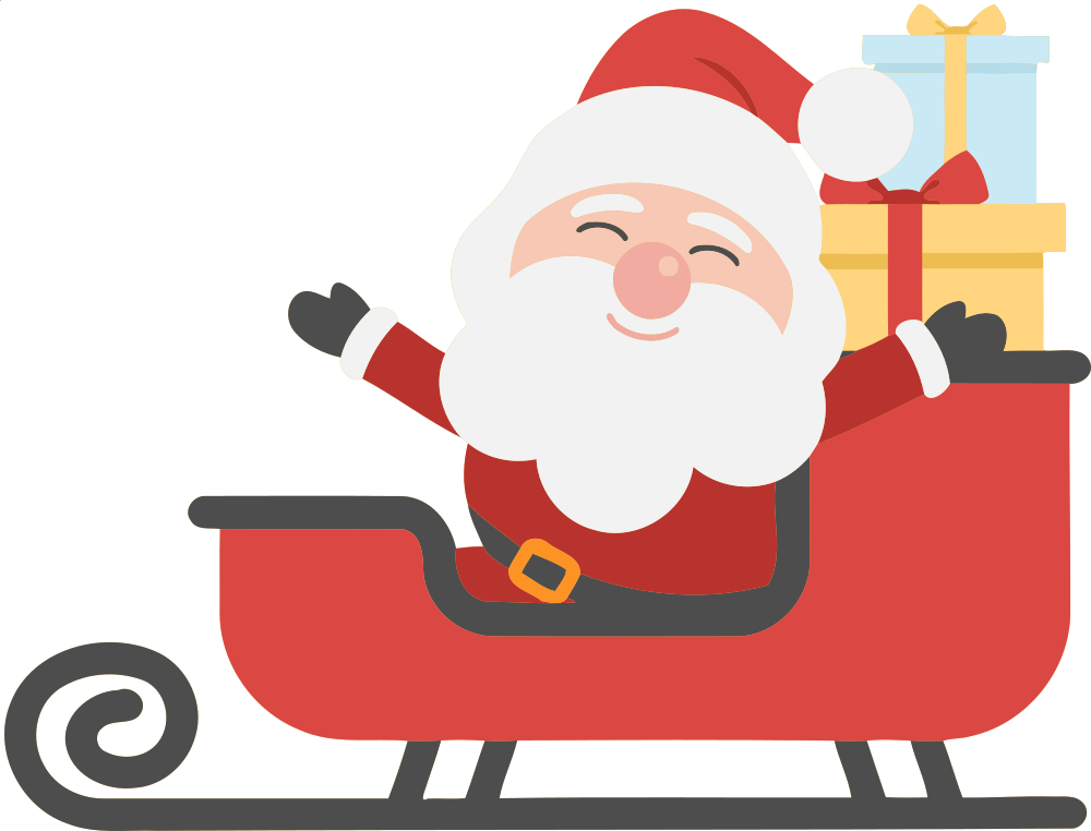 Sleigh clipart easy. Onlinelabels clip art santa