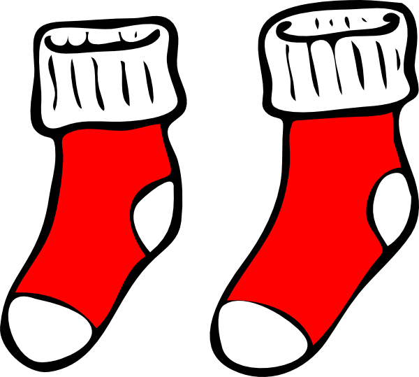 Red clip art at. Elf clipart socks