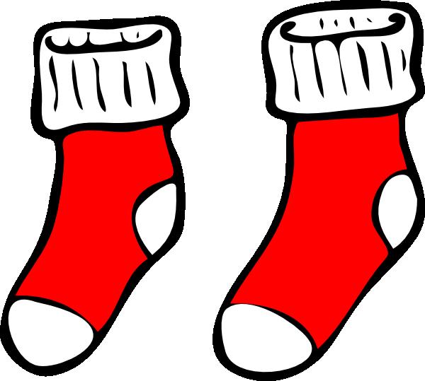 White clipart socks. Red clip art at