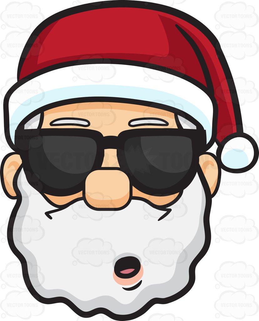 With portal . Sunglasses clipart santa