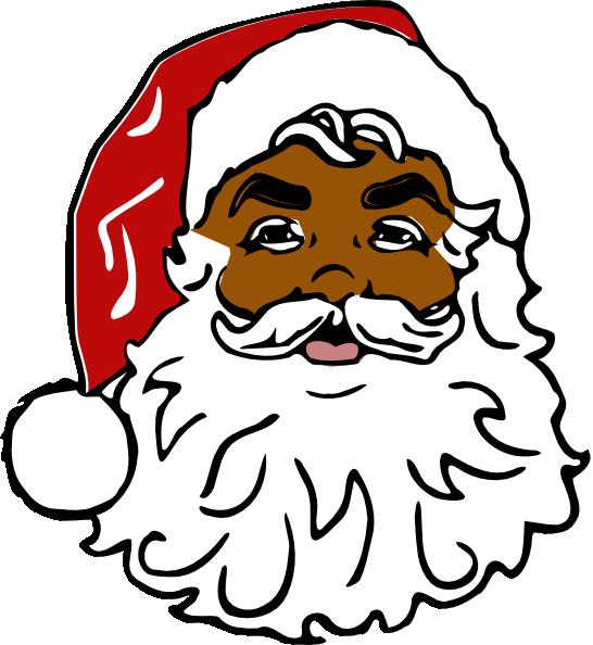 Black claus . Santa clipart nose