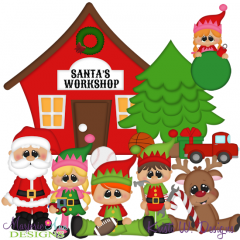 Clipart santa workshop. Pin on craft ideas
