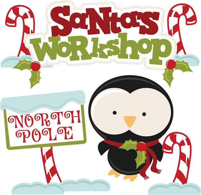 collection of s. Clipart santa workshop