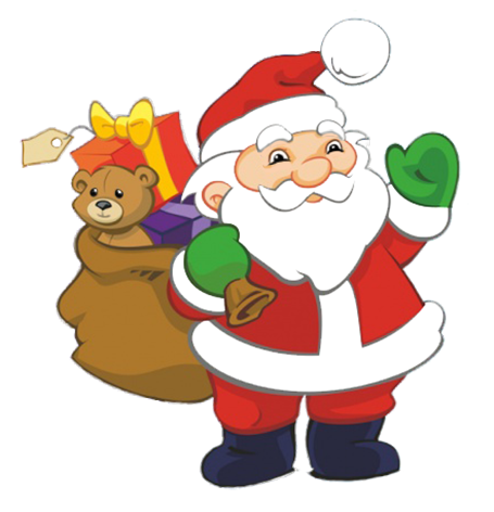 Funny and free claus. Clipart santa
