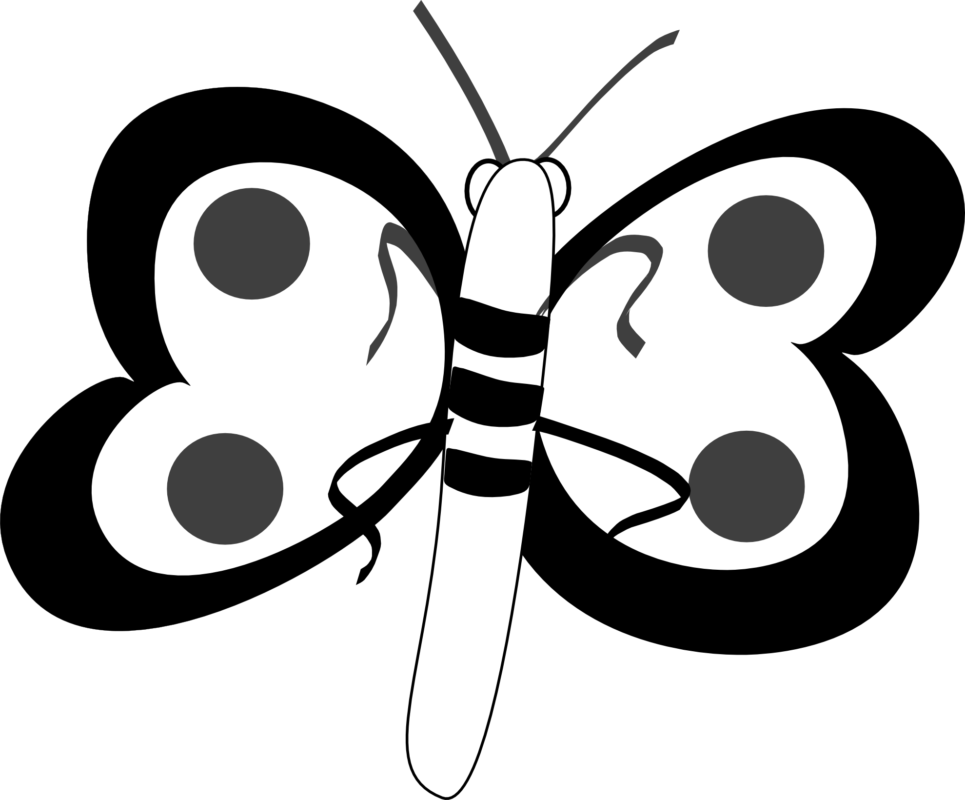 Moth clipart svg. Butterfly black and white