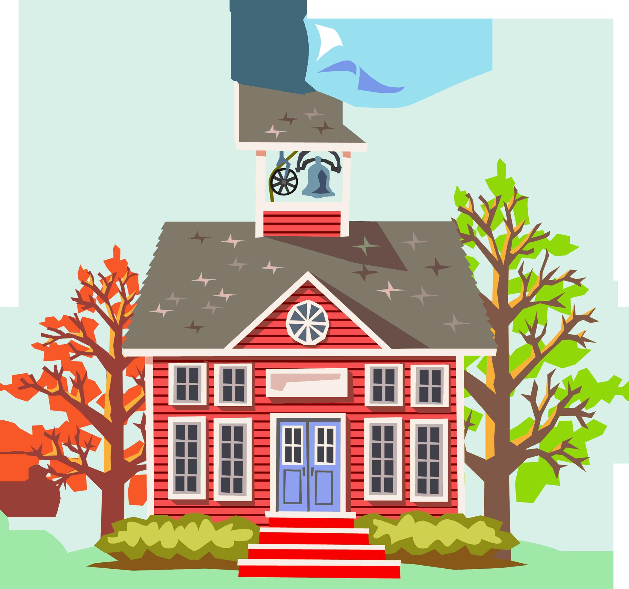 schoolhouse clipart community school