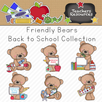Clipart school chore. Friendly bears back to