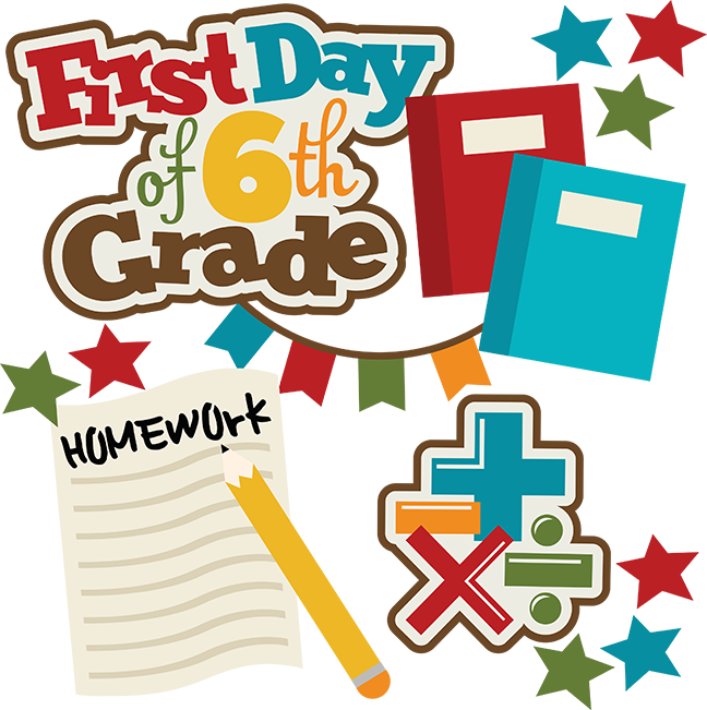 First day of th. Clipart school chore