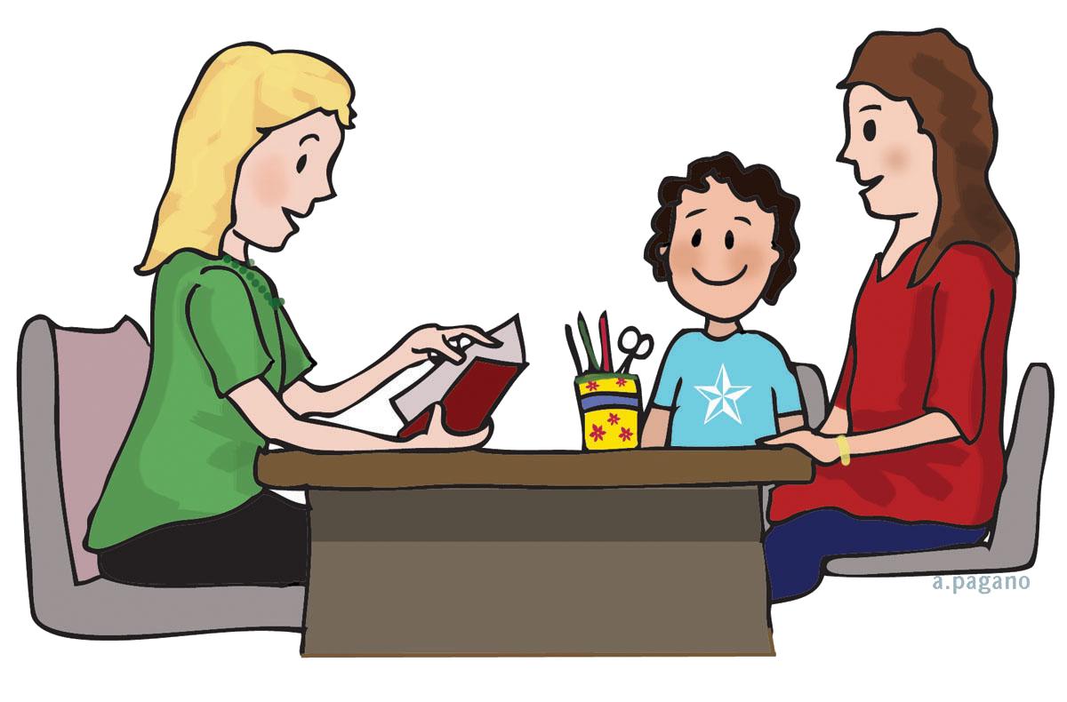 Conference clipart parent education. Parents school communication monday