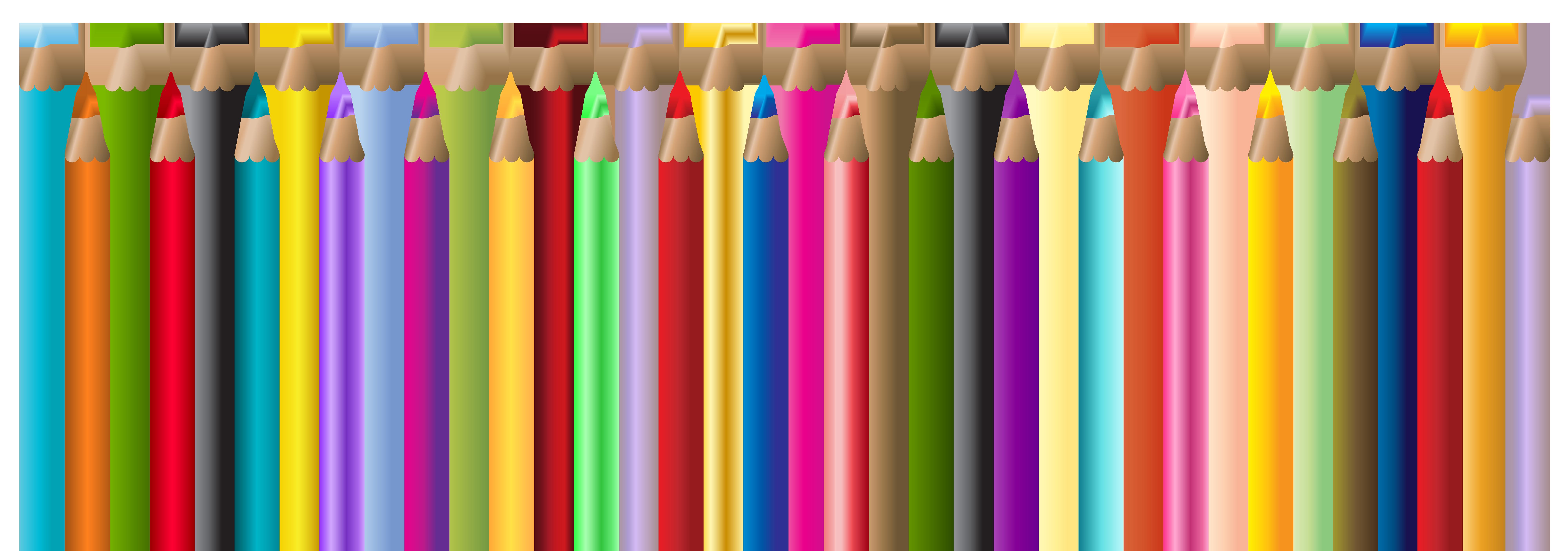 Pencils decor png clip. Crayon clipart school
