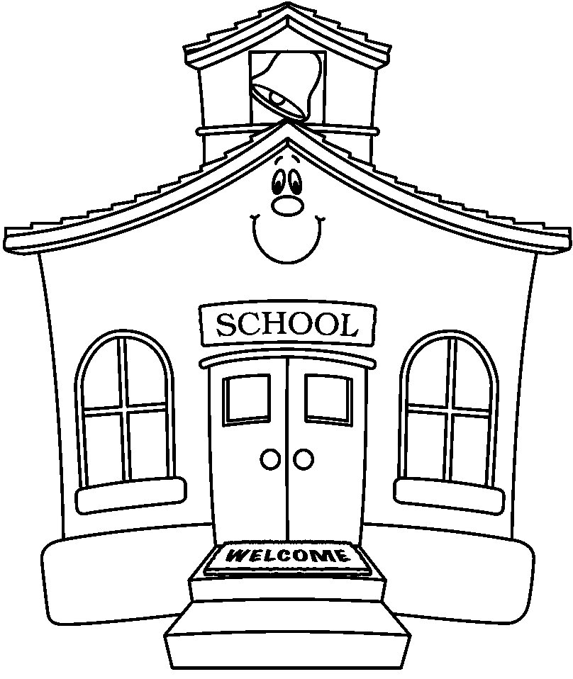 Free drawing cliparts download. Schoolhouse clipart school sketch