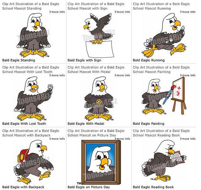 Eagle clipart school. Cartoon mascot clip art