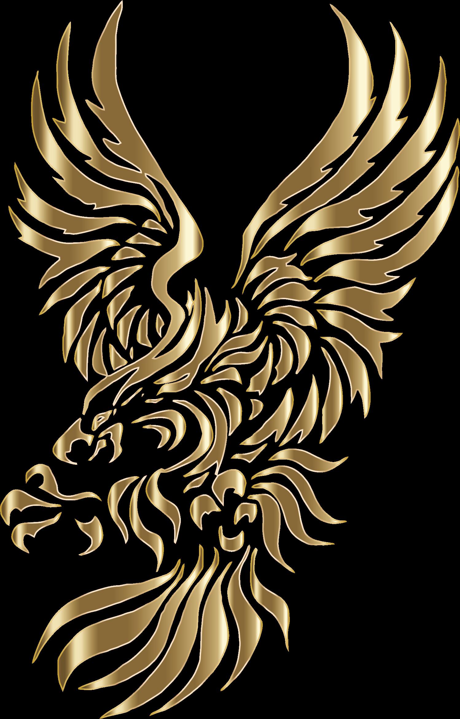 Chromatic tribal no background. Eagle clipart stencil