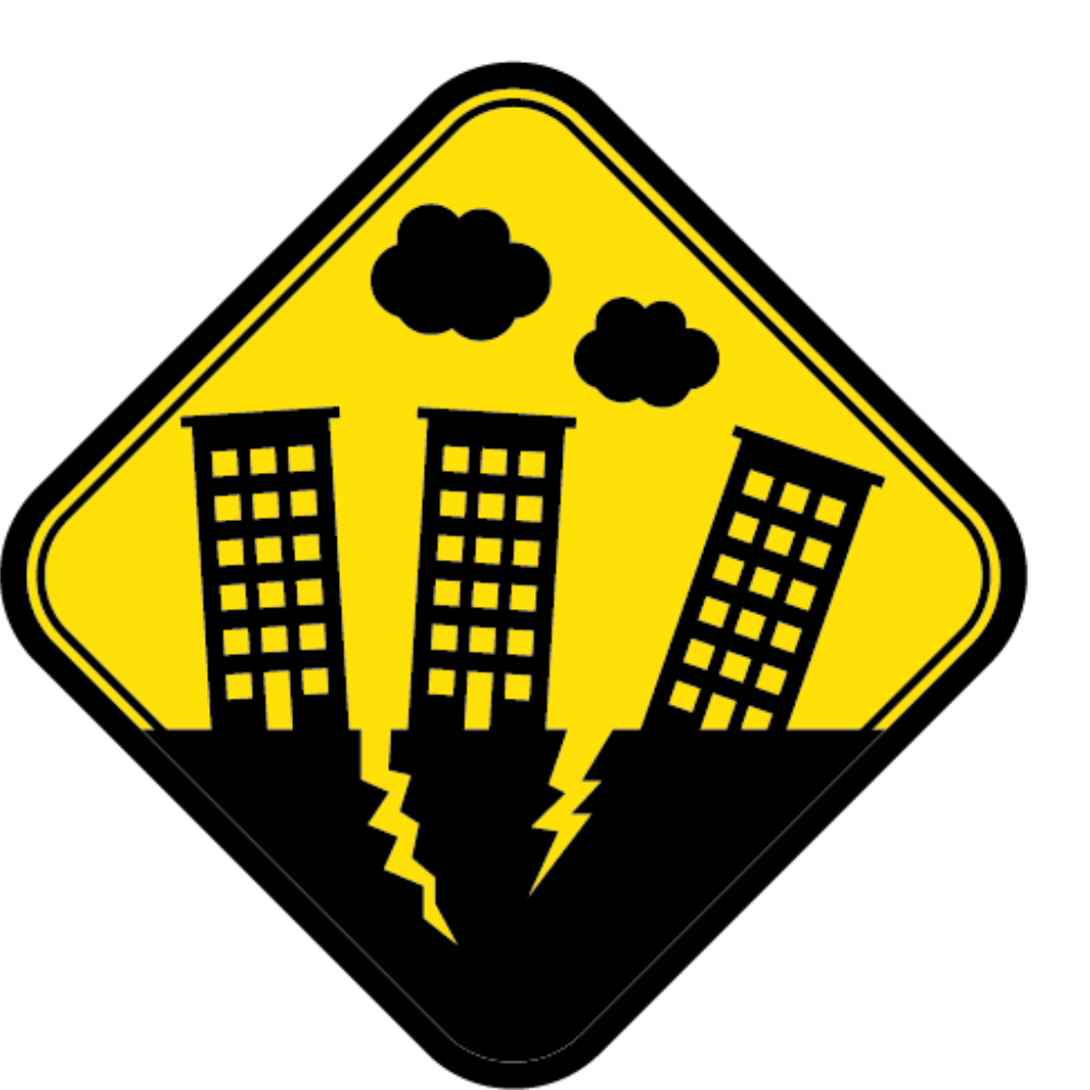 Warning system clip art. Earthquake clipart issue global