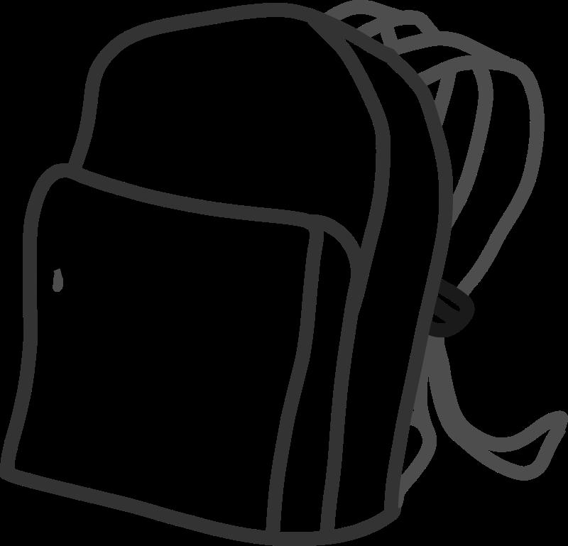 Clipart school easy. Bag medium image png