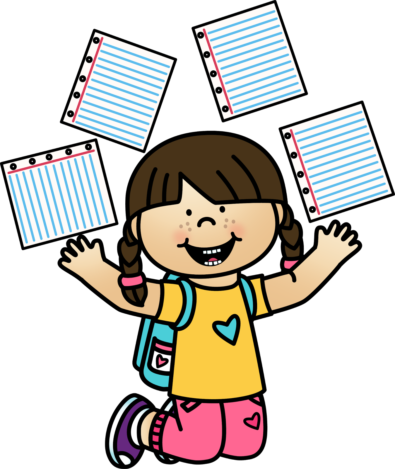 Clipart school end. Learning activities for kids