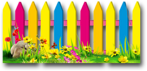 Fencing clipart fence border. Colorful fences collections clip