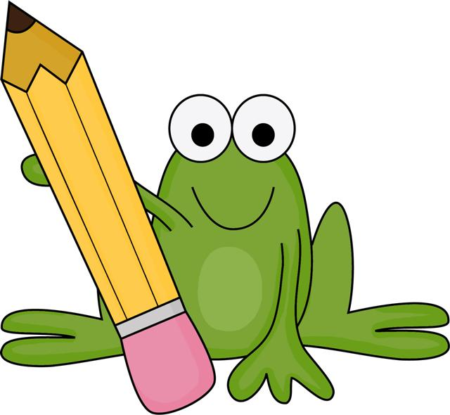 Clipart writing school. Free cliparts frog download