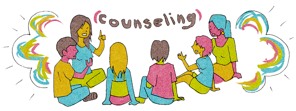 Respect clipart peer counseling. Group and individual carmen