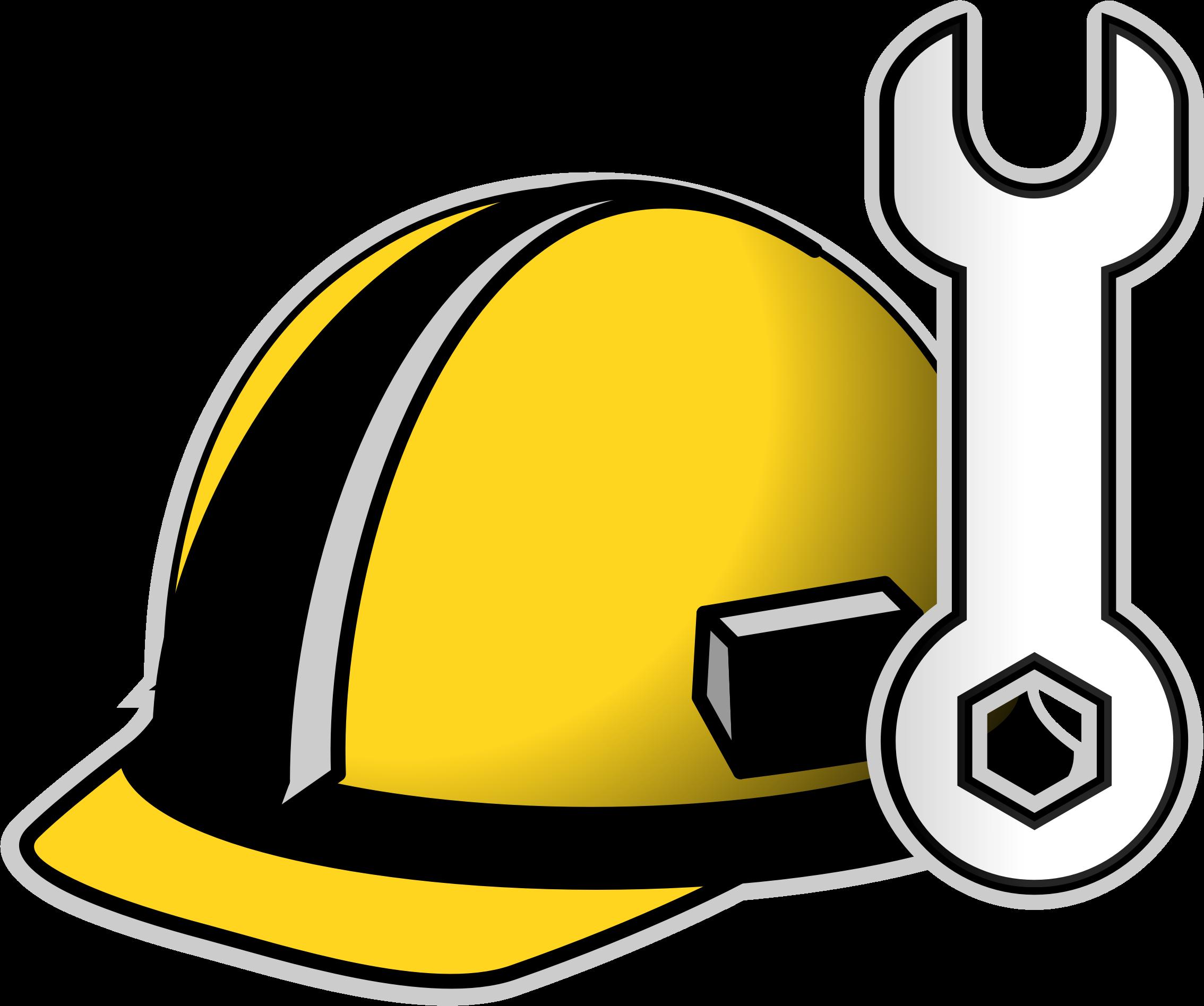 Hard hat big image. Engineering clipart border