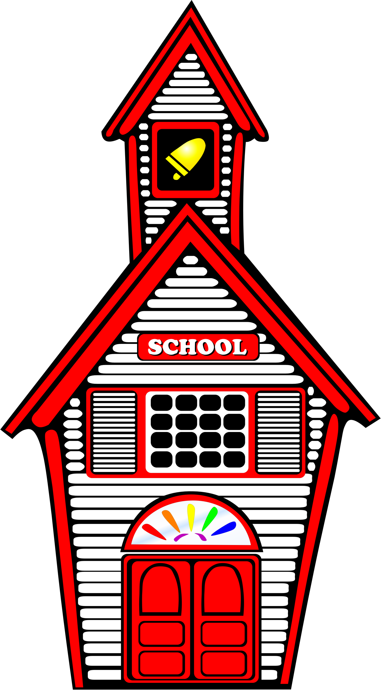 School house png. Clipart white schoolhouse big
