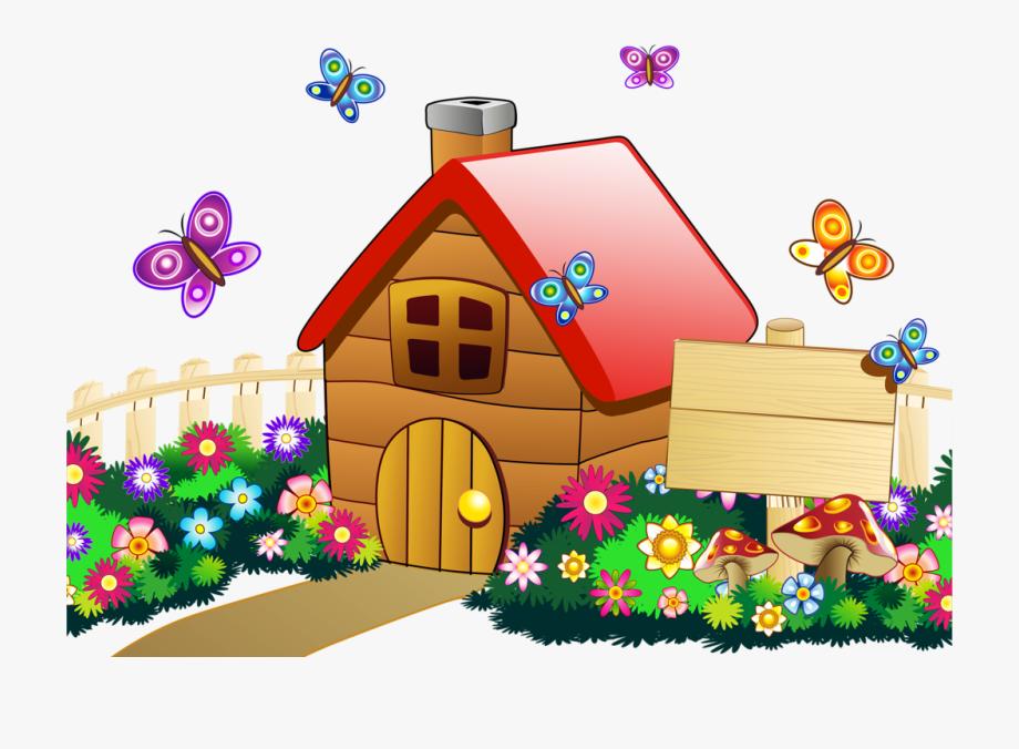 Landscape school . Clipart summer house