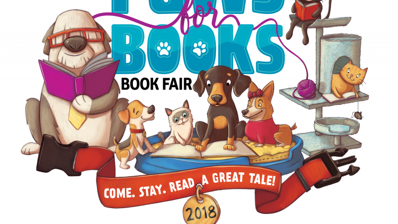 Paws for books book. Clipart school lunchroom