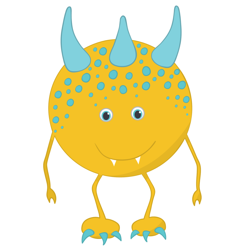 Monster clipart mini monsters. Cute hubpicture pin