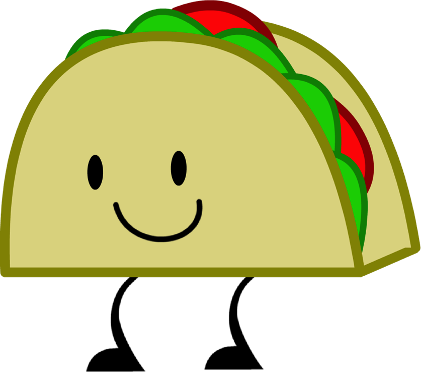 Taco outline free on. Pie clipart cute