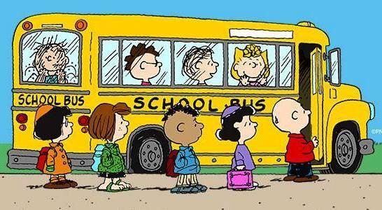 Bus clip art transportation. Peanuts clipart school