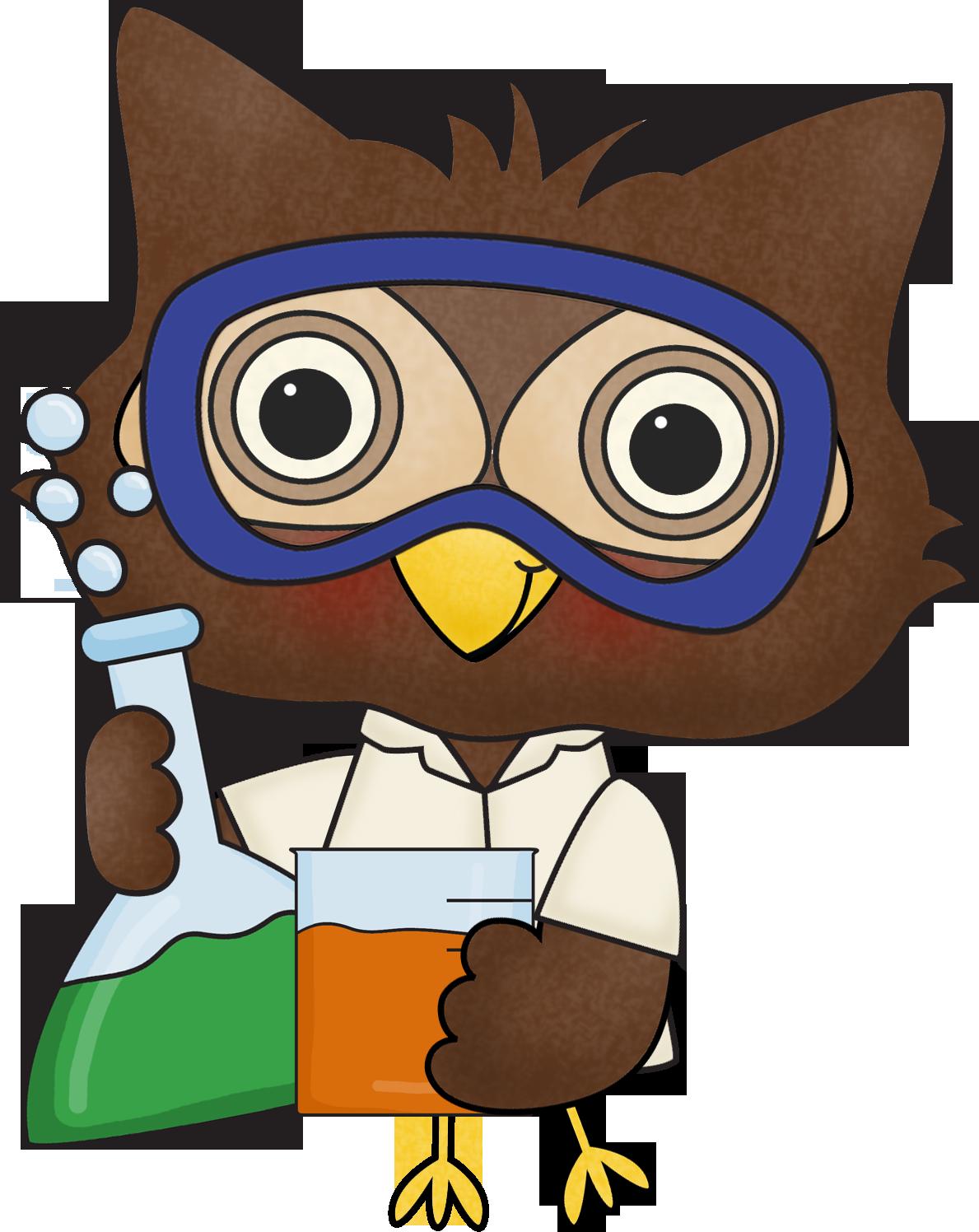 Scientist owl