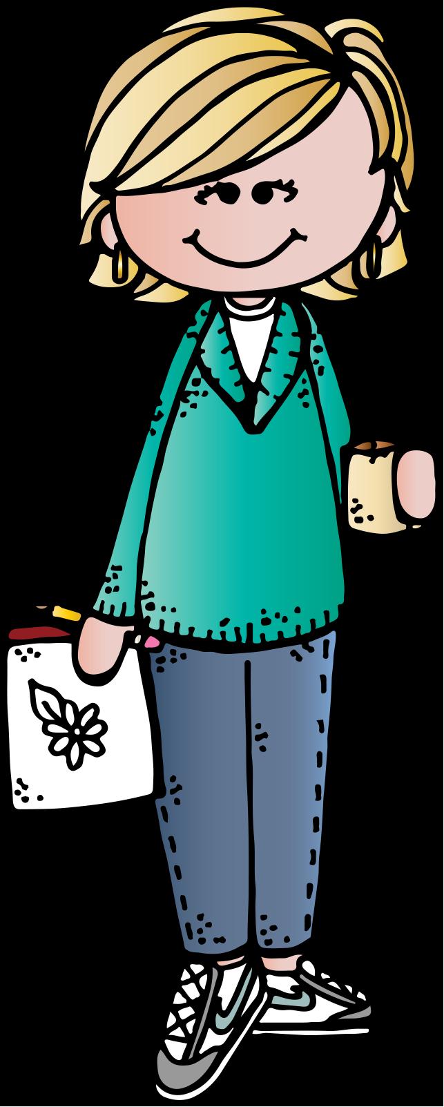 Maestra dibujo melonheadz pinterest. Clipart school responsibility